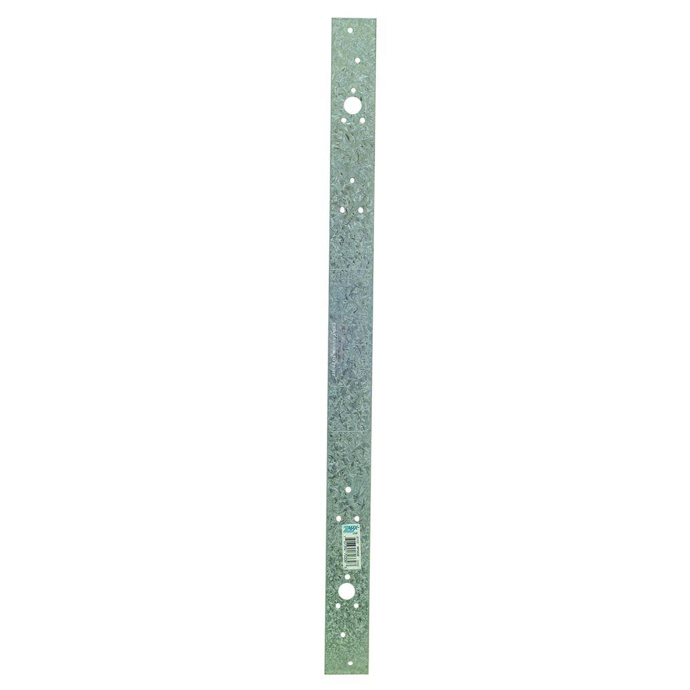 ZMAX Galvanized 16-Gauge 22-5/16 in. Retrofit Plate Strap