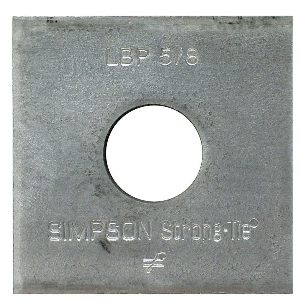 5/8 in. Bolt Diameter 2 in. x 2 in. Bearing Plate