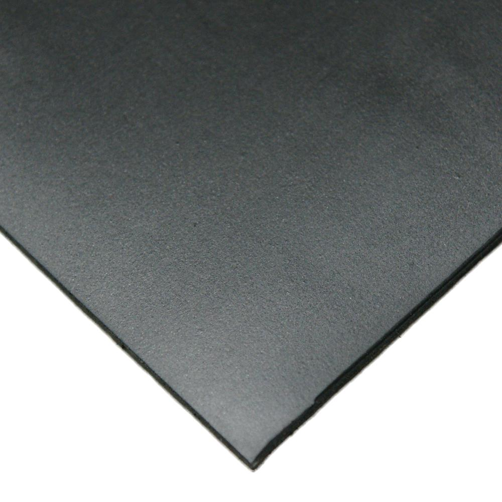 Neoprene 1/4 in. x 36 in. x 12 in. Commercial Grade 45A Soft Rubber Sheet Rolls