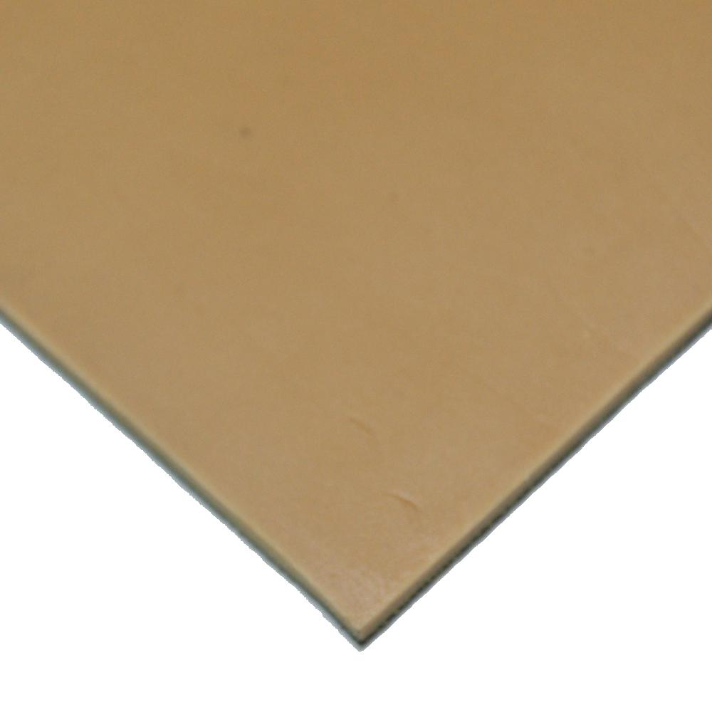 Pure Gum Rubber 1/8 in. x 36 in. x 24 in. Tan Commerical Grade 40A Rubber Sheet