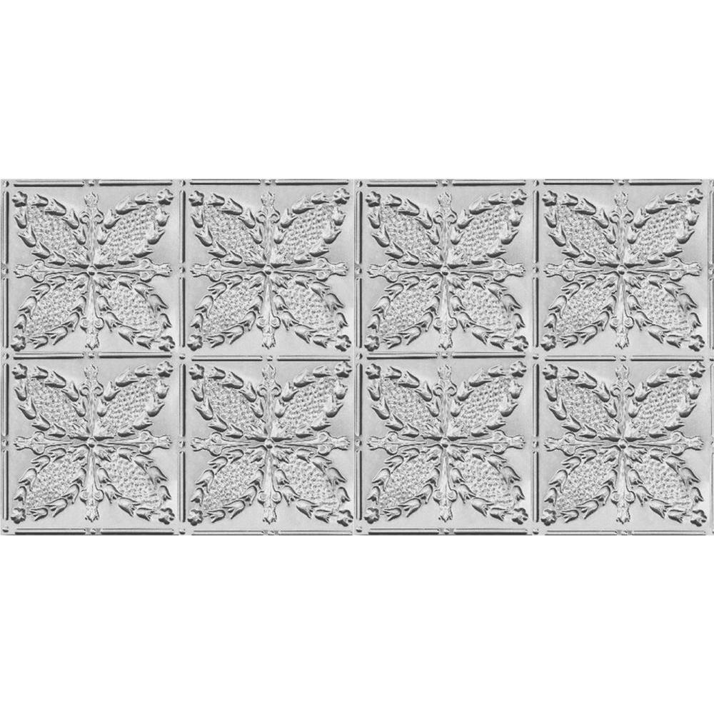 2 ft. x 4 ft. Nail-up/Direct Application Tin Ceiling Tile in Clear Lacquer (24 sq. ft. / case)