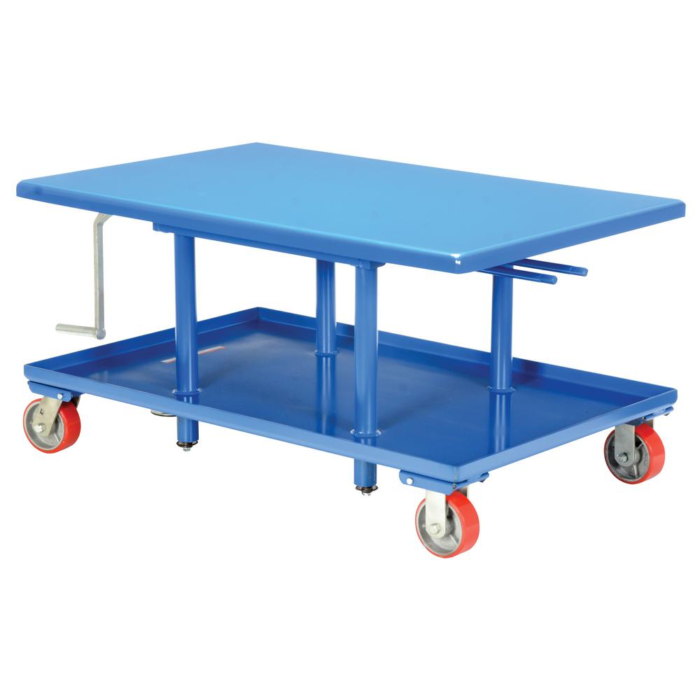 2,000 lb. Capacity 30 in. x 42 in. Low Profile Manual Mechanical Post Table