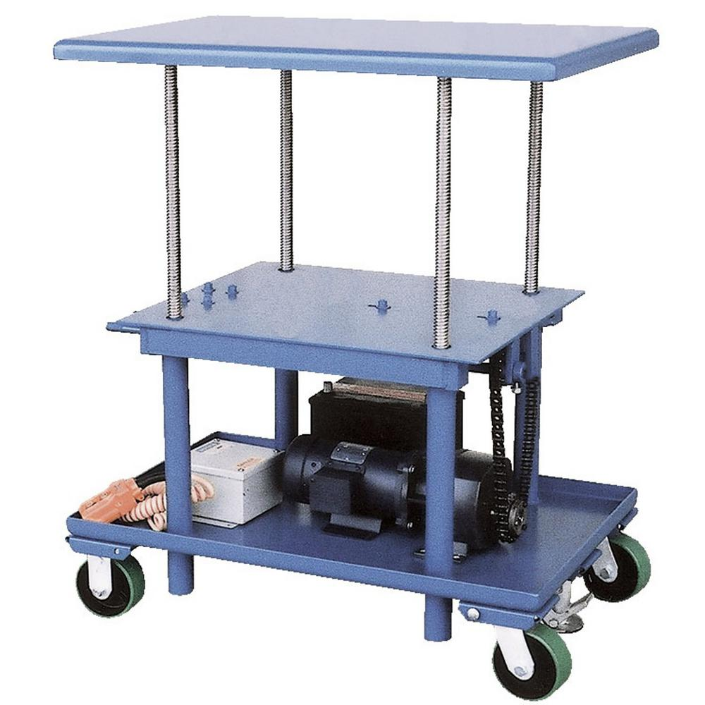 2,000 lb. Capacity 24 in. x 60 in. Low Profile DC Powered Mechanical Post Table