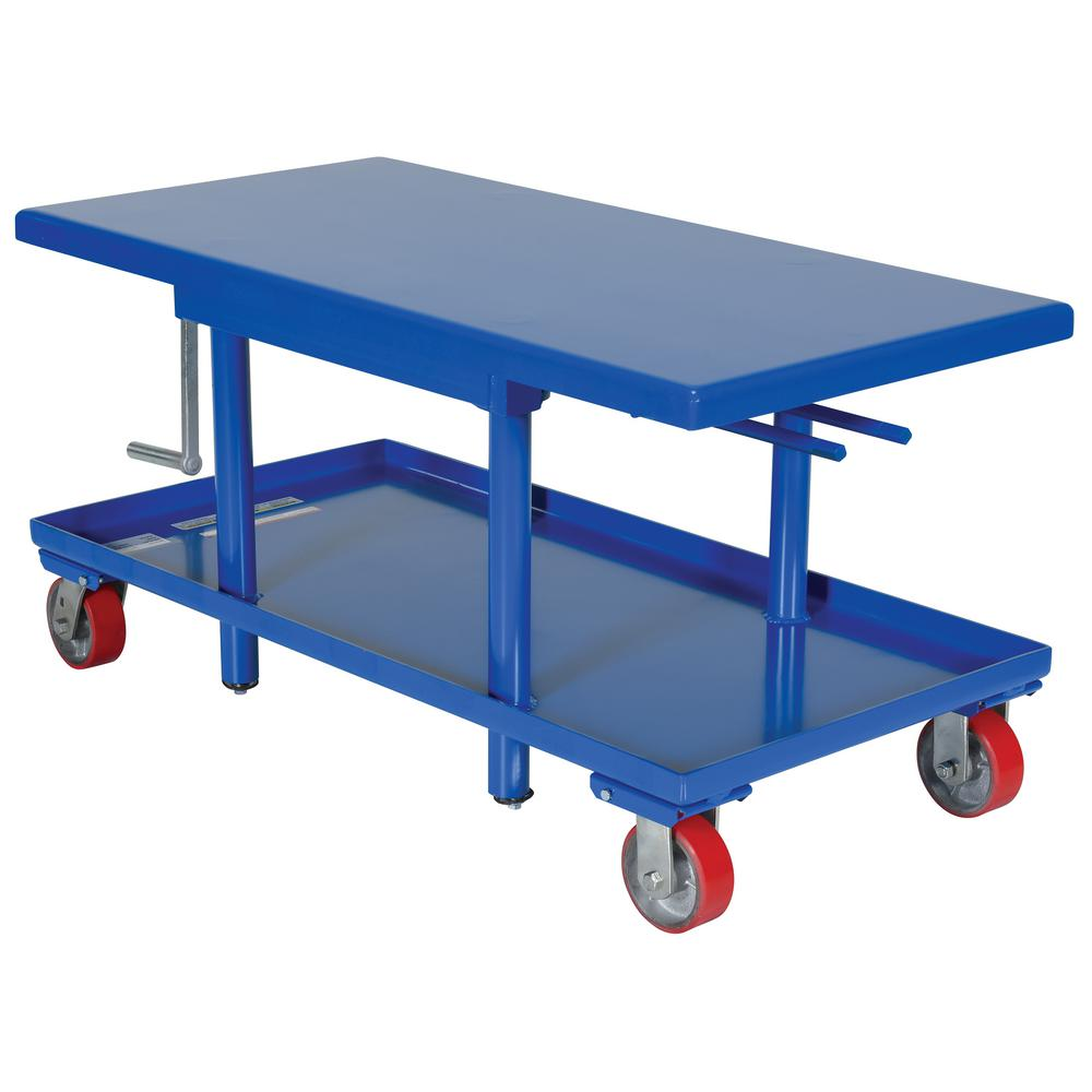 2,000 lb. Capacity 24 in. x 42 in. Low Profile Manual Mechanical Post Table