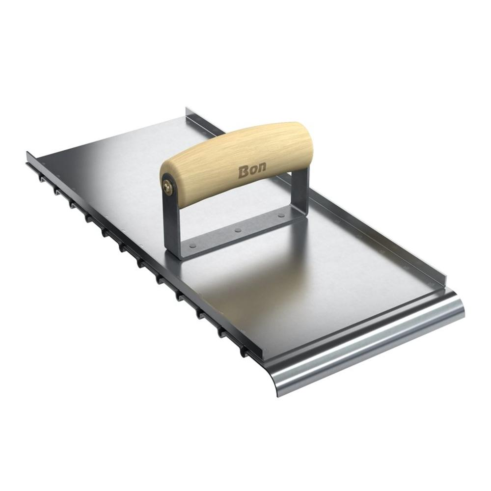 Target 13-1/2 in. x 6 in. Steel Ramp Groover with Wood Handle