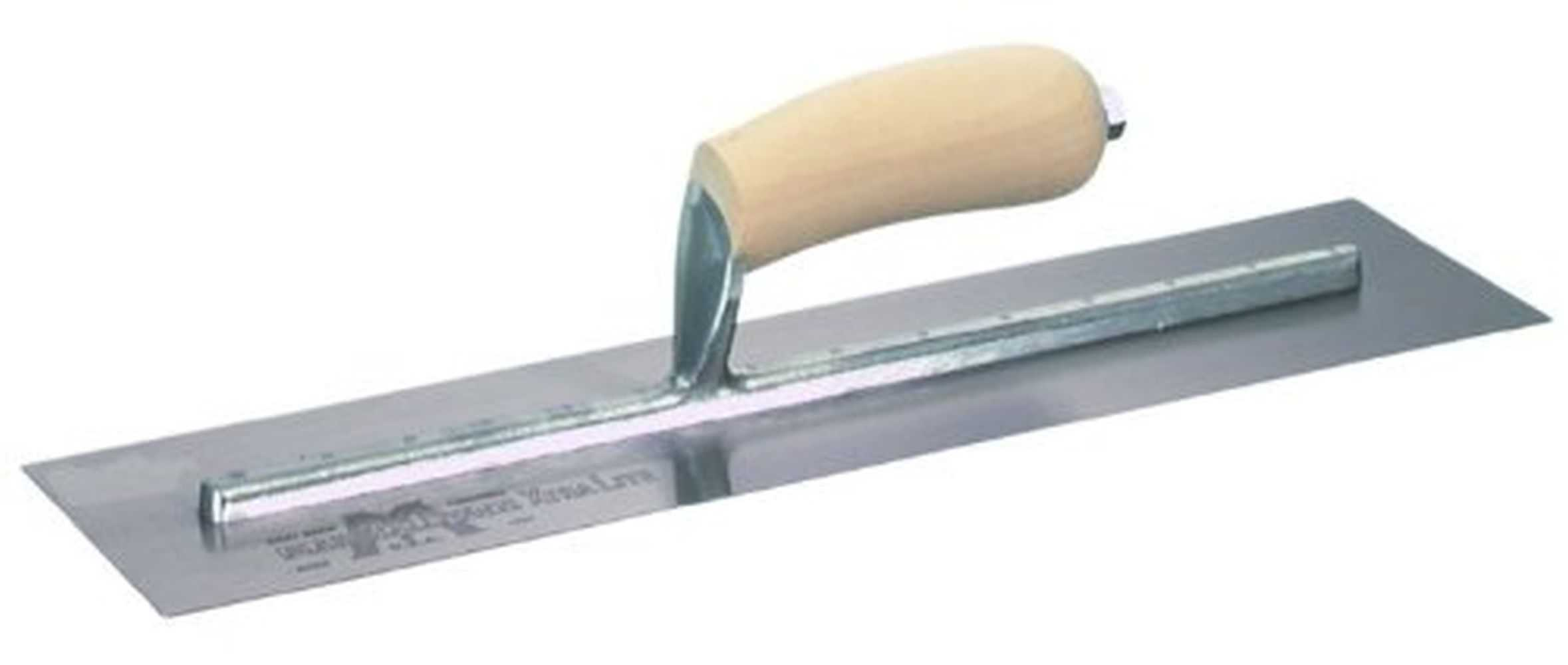 Marshalltown MXS60 16'x3' Finishing Trowel with Curved Wood Handle