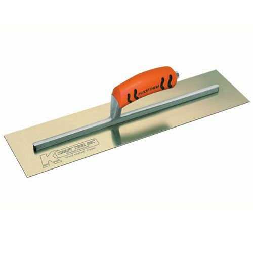 Kraft Tool CF533PF Golden SS Cement Trowel w/ ProForm Handle, 16' x 4', 1-pc
